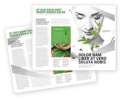 Bio Cosmetics Brochure Template #07032 green flyers, brochures - flyers and brochures templates