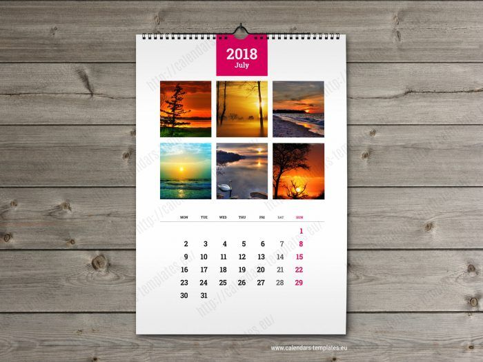 Wall Calendar A3 Printable Photo Yearly Monthly Calendar