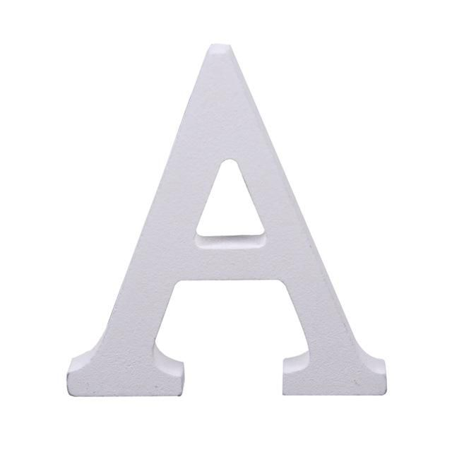 Photo of White Large Capital Alphabet Letters for Kid's Tiles, Play and Learn, DIY-Letter A to Z – Letter A / 2pcs
