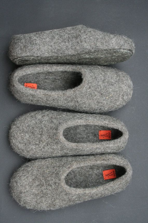 Photo of Items similar to Felted slippers women latex soles on Etsy