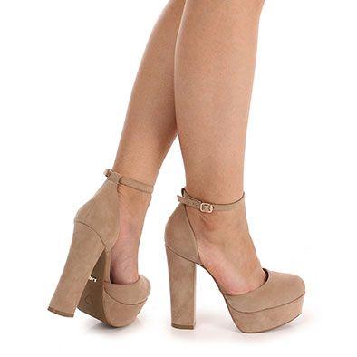 beffc1df5 Sapato Salto Feminino Lara - Bege | zapatos | Zapatos, Zapatos ...