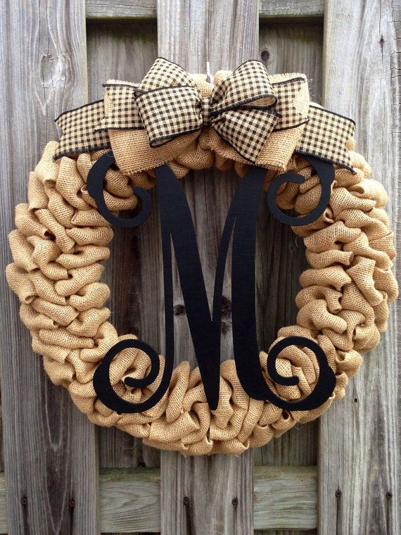 Sale Rustic Southern Chic Single Letter Wood Monogram