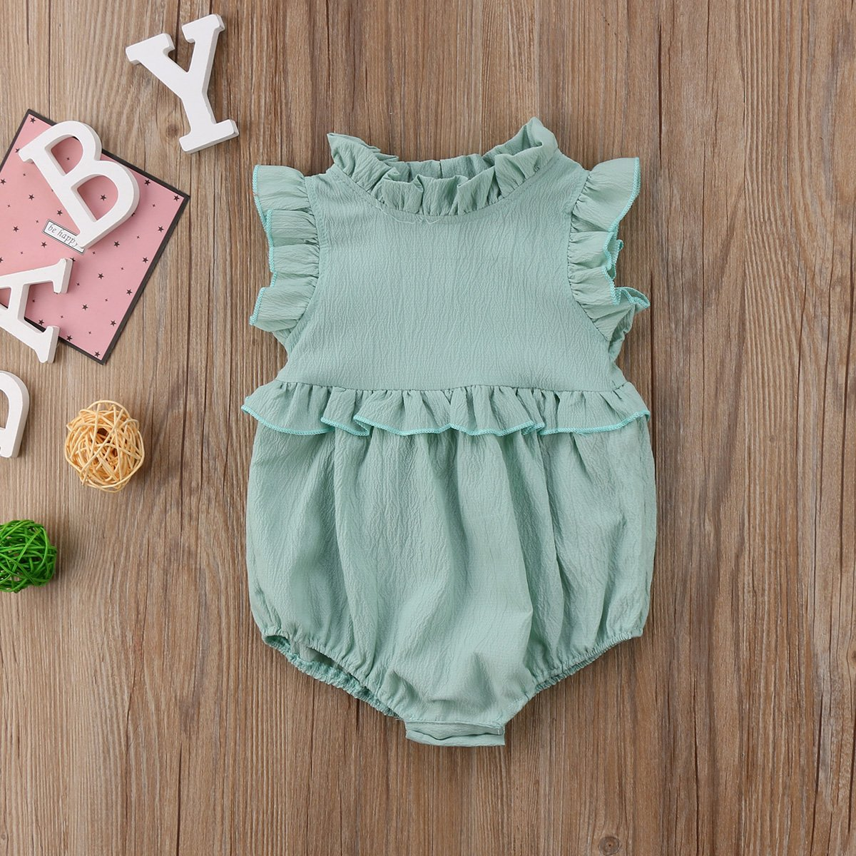 f40b3b4bb2c Gwen Sleeveless Ruffled Romper Baby Girl Jumpsuit