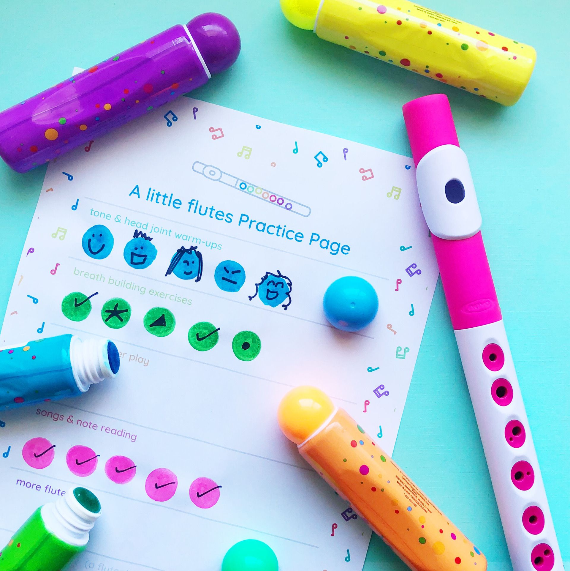 Practice Tracker For Little Musicians With Bingo Dabbers Bingo Dabber Writing Practice Flute Can you use bingo markers to write on