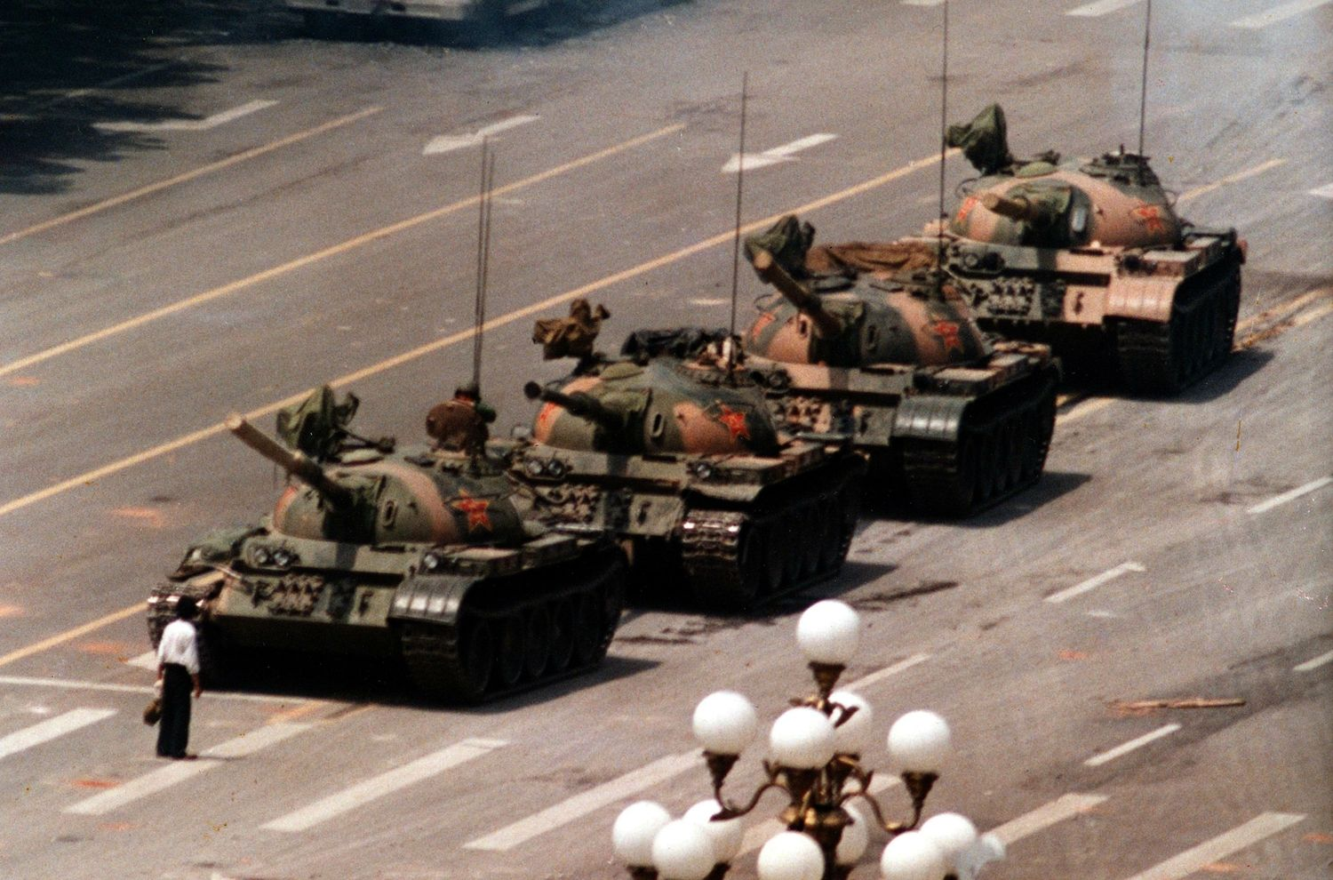 This image of a lone man standing in front military tanks has come to symbolize the atrocity that occurred at Tiananmen Square. This unidentified man epitomizes bravery.   He stood up for something he strongly believed in. Standing up to people requires courage, standing in front of a military tank that could easily run you over demands bravery.  People say a picture is worth a thousand words, but this picture speaks millions as to what bravery truly is. --Elina D. #OneBraveThing