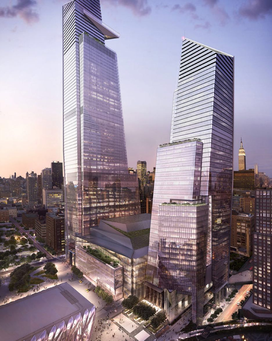 """At Dwell on Design New York join us for """"Recipe for a New Neighborhood a panel discussion on the massive Hudson Yards development on Manhattans West Side with Howard Elkus of Elkus Manfredi Thomas Wolz of Nelson Byrd Woltz and @samuelian of Related Companies. Get your tickets for the event taking place Oct. 2-4 at the link in our profile! Photo courtesy of Related-Oxford. by dwellmagazine"""