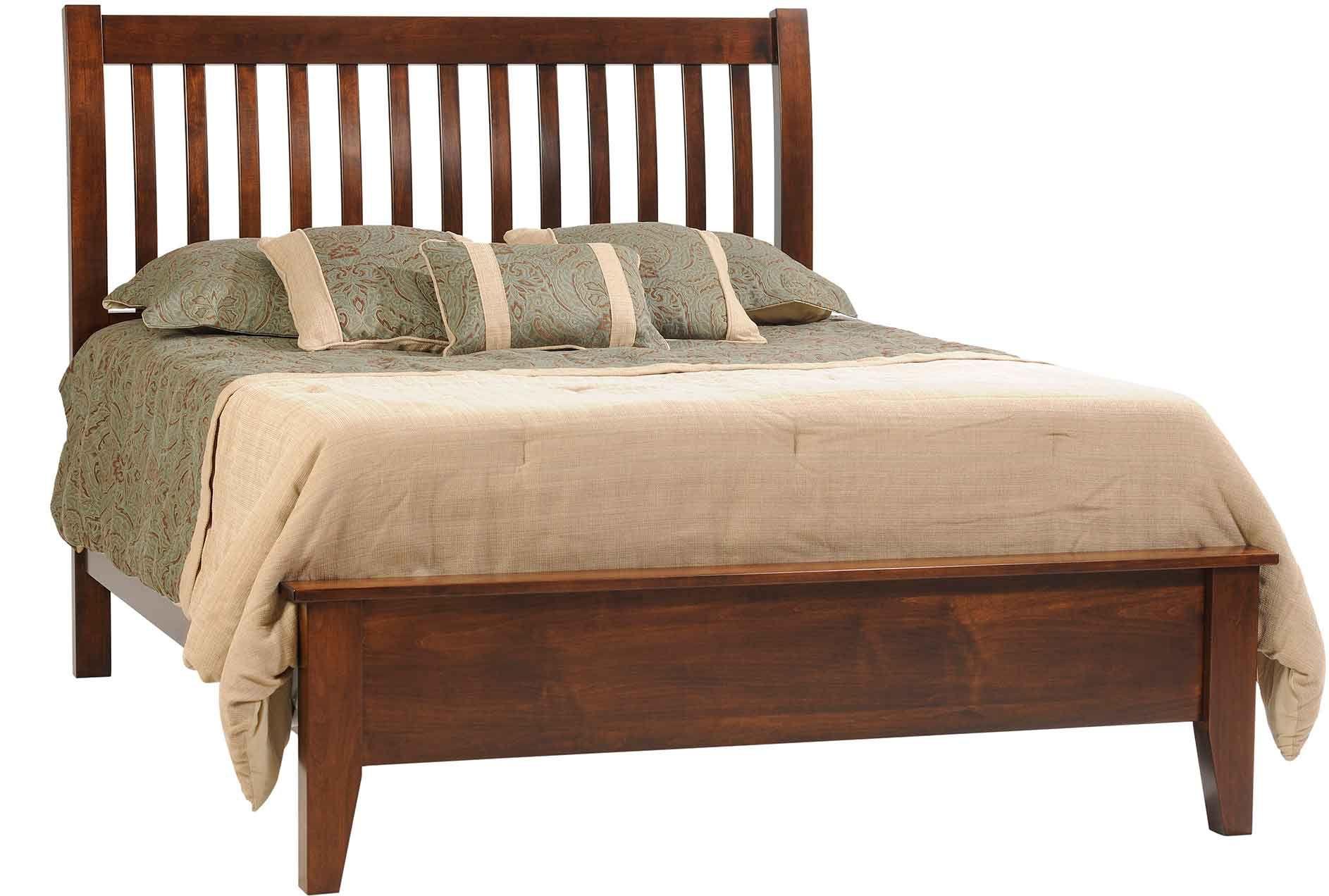Queen slat bed bedroom pinterest hardwood furniture and bedrooms