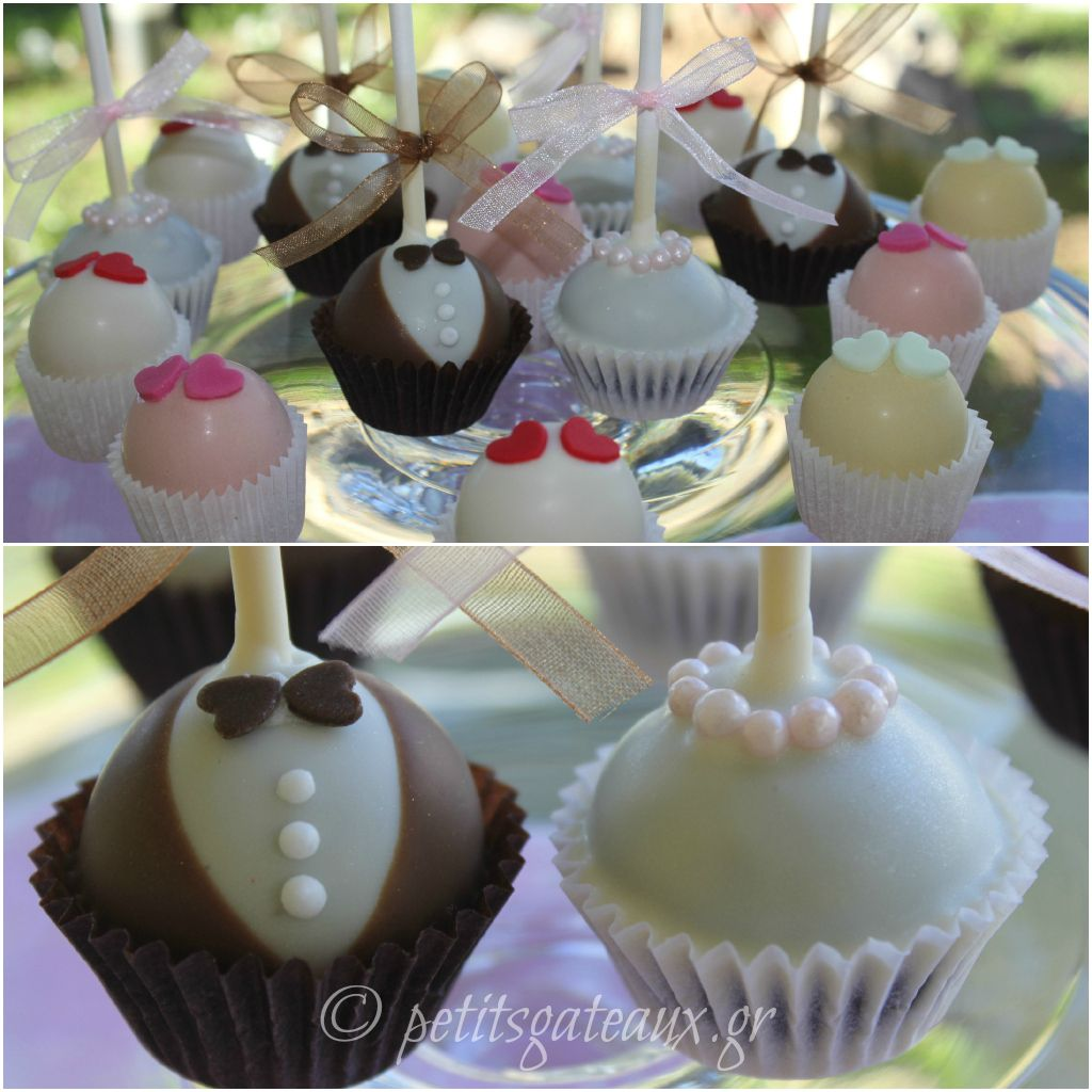 Wedding cake pops and almond petits fours torte pinterest
