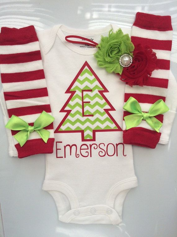 Baby Girl Christmas outfit Preemie Newborn and 3 by AboutASprout - Baby Girl Christmas Outfit Preemie Newborn And 3 By AboutASprout