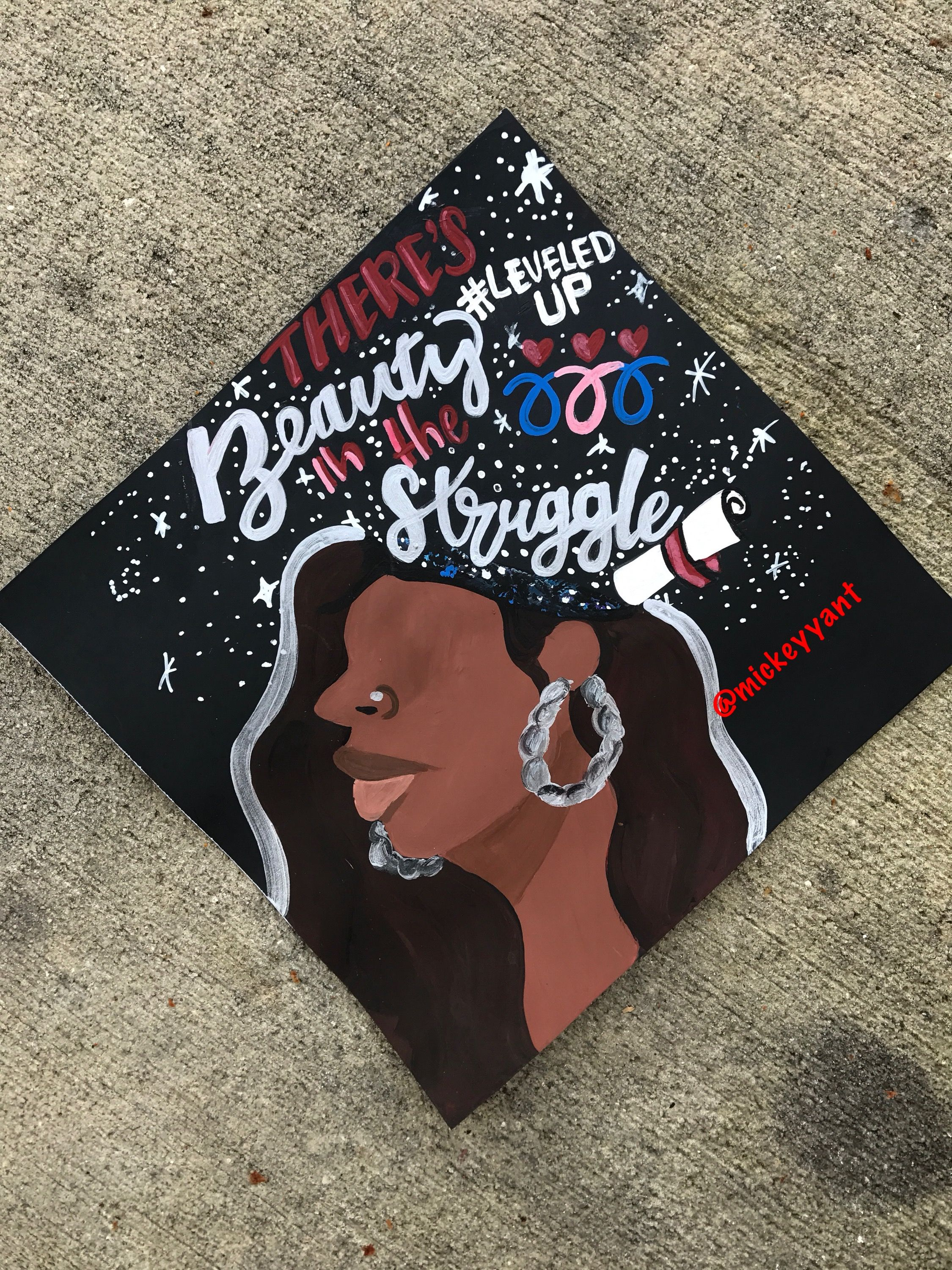 There is beauty in the struggle grad cap Black girl magic ...