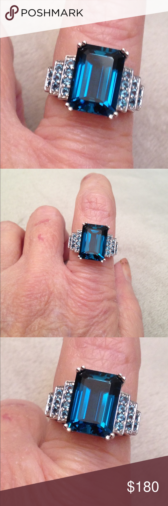 London Blue Topaz Sterling Ring Boutique | London blue topaz, London ...
