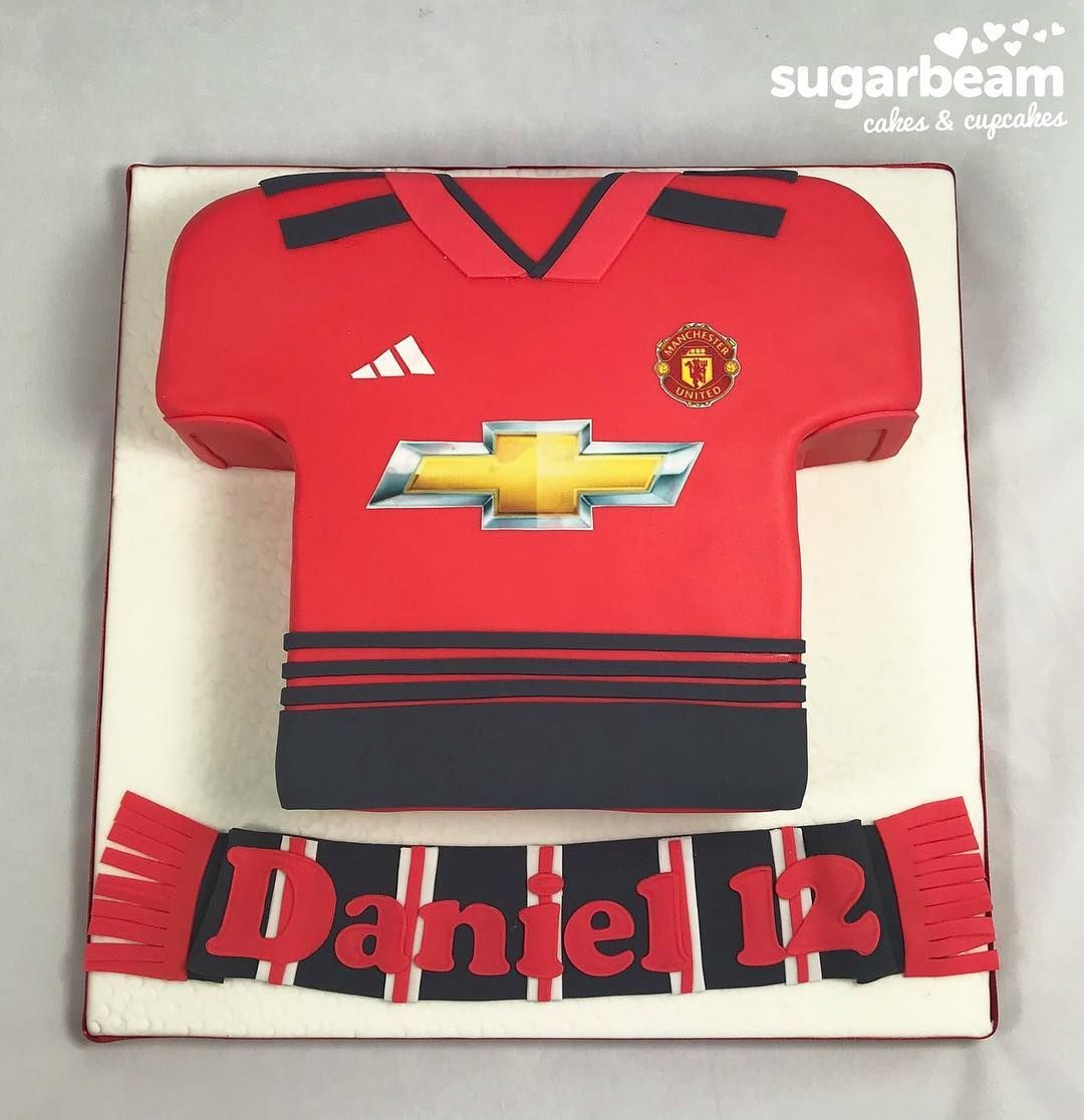 Manchester United Shirt Cake Manchester United Birthday Cake Manchester United Cake Manchester United Shirt
