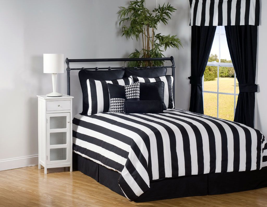 Black and white striped bed sheets - 17 Best Images About Master Bedroom On Pinterest Modern Bed Black And White Striped Duvet Cover Bedding Sets