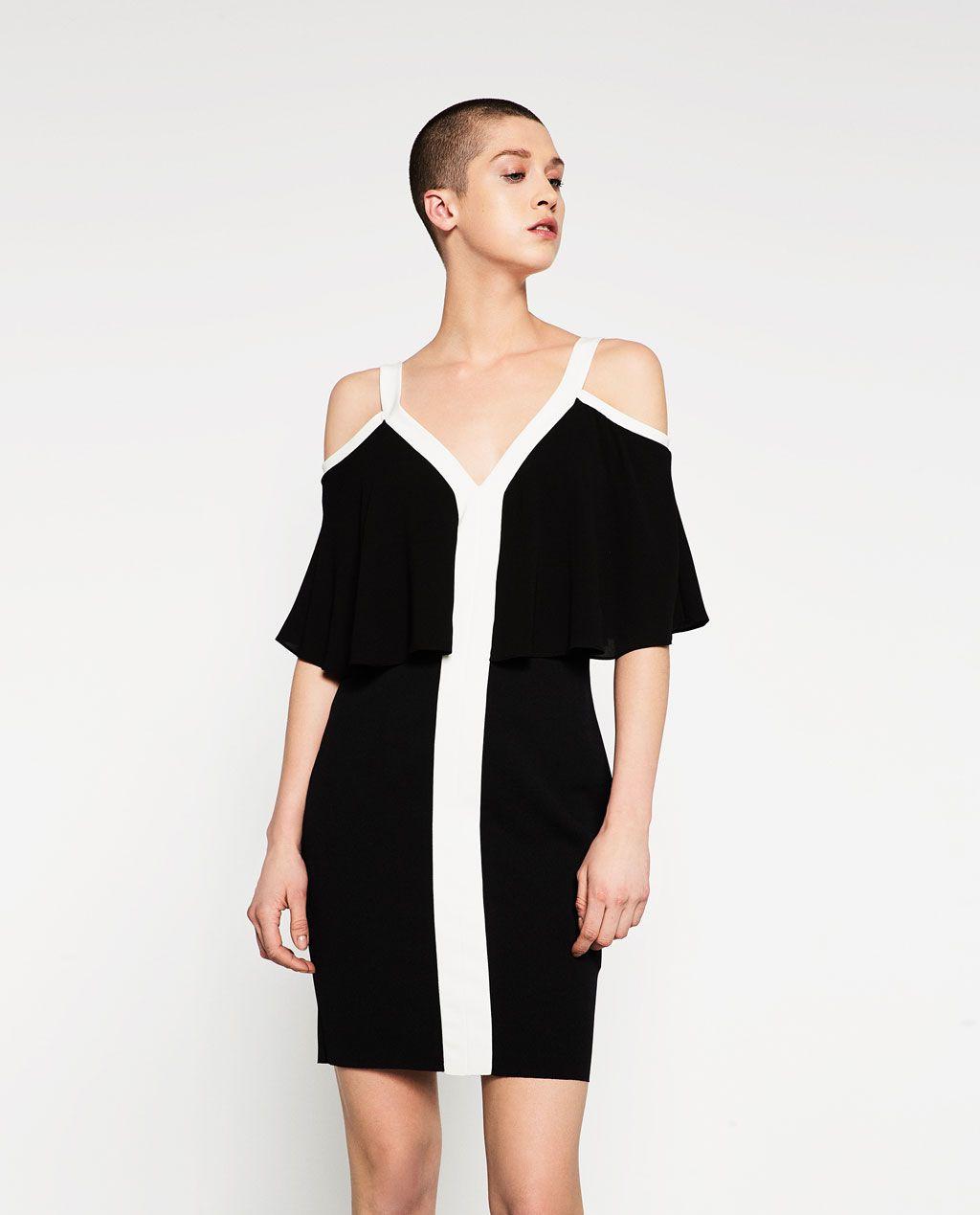 TWO TONE DRESS View All DRESSES WOMAN   ZARA United States