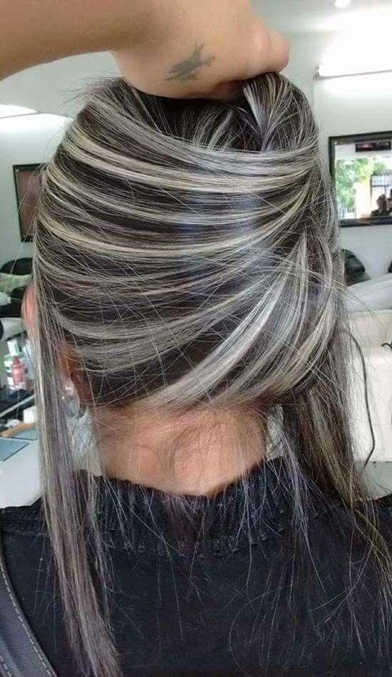 platinum white blonde silver balayage