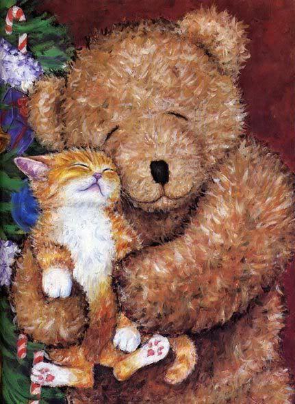 Картинки с мишками и котятами