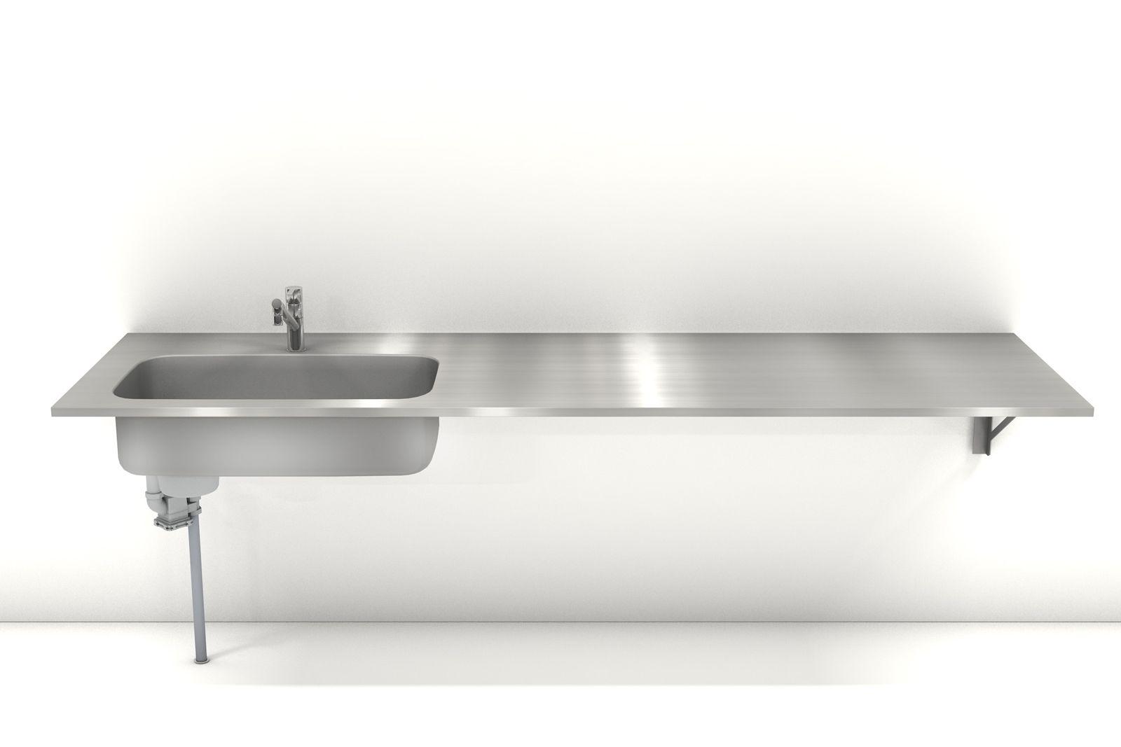 オーダーキッチン天板は サイズオーダーが可能なステンレス製の