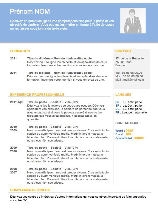 Modèle de cv pour étudiant (avec images) Modèle cv