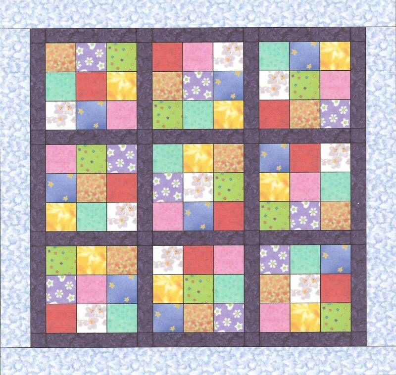 Kids Sudoku Quilt Pattern | Sewing Tutorials - Quilts | Pinterest ... : sudoku quilt pattern free - Adamdwight.com