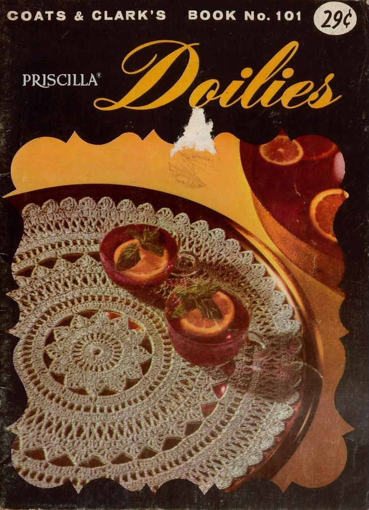 Vintage Crochet Patterns Pineapple Doilies Apron Tablecloth