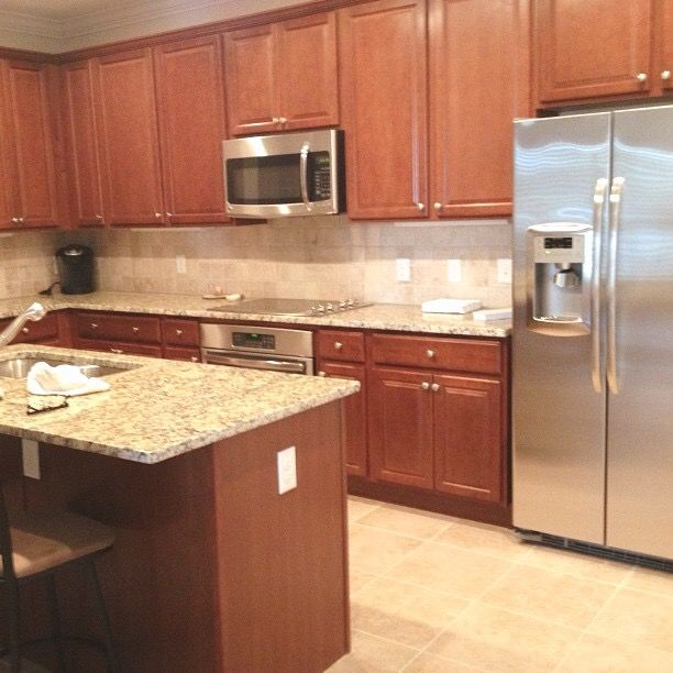 Maple cabinet ideas. Traditional cabinetry. Home remodel ... on Maple Cabinets Countertop Ideas  id=68468