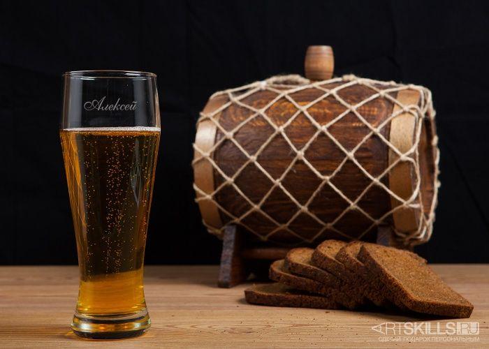 Бокал для пива с гравировкой - фото (มีรูปภาพ)