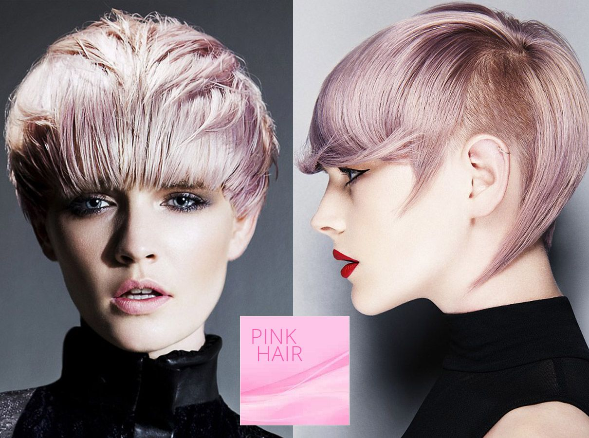 Trendy Colors For Short Hair Fall Winter 2015 2016 Pink Color Is