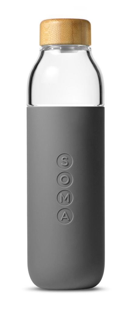 Bottles Container Embossed / Debossed Grey Logo Matte Rubber & Silicon Soma Wood