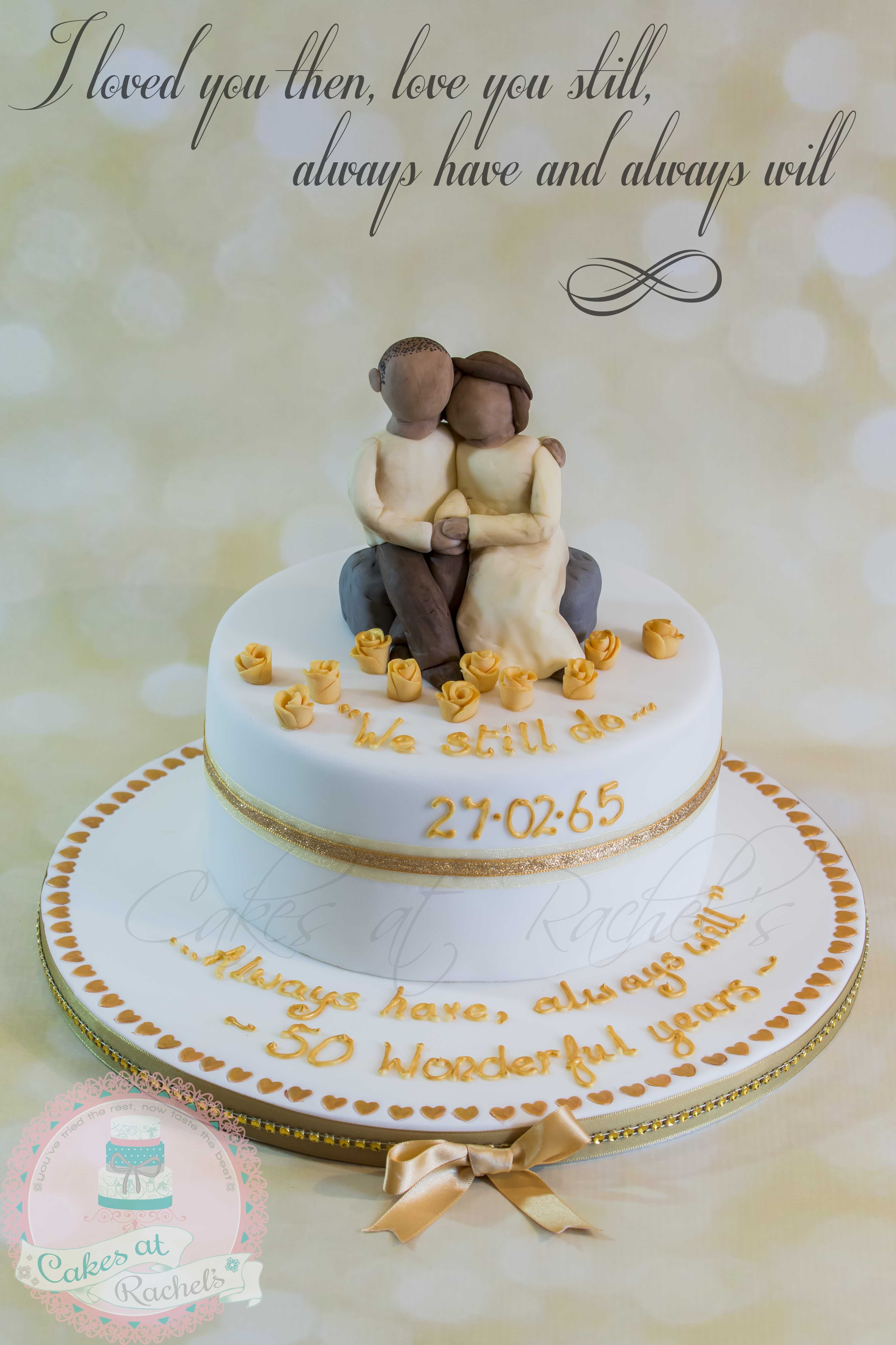 So, this is the cake I designed for my parent's 50th