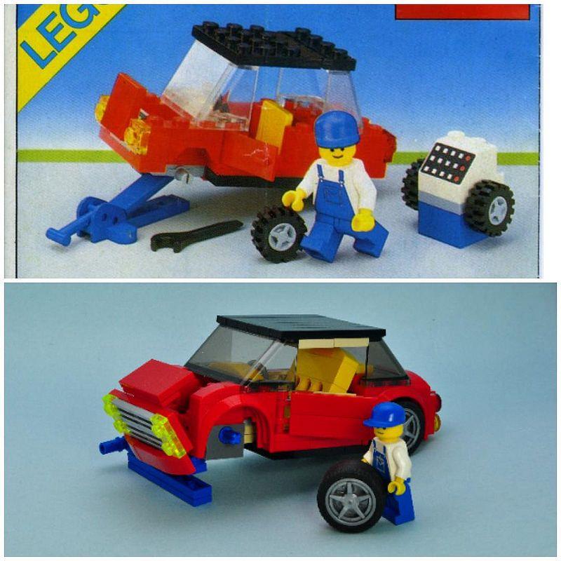 7288 Lego Mobile Police Unit Complete Truck Instructions Box Car Van