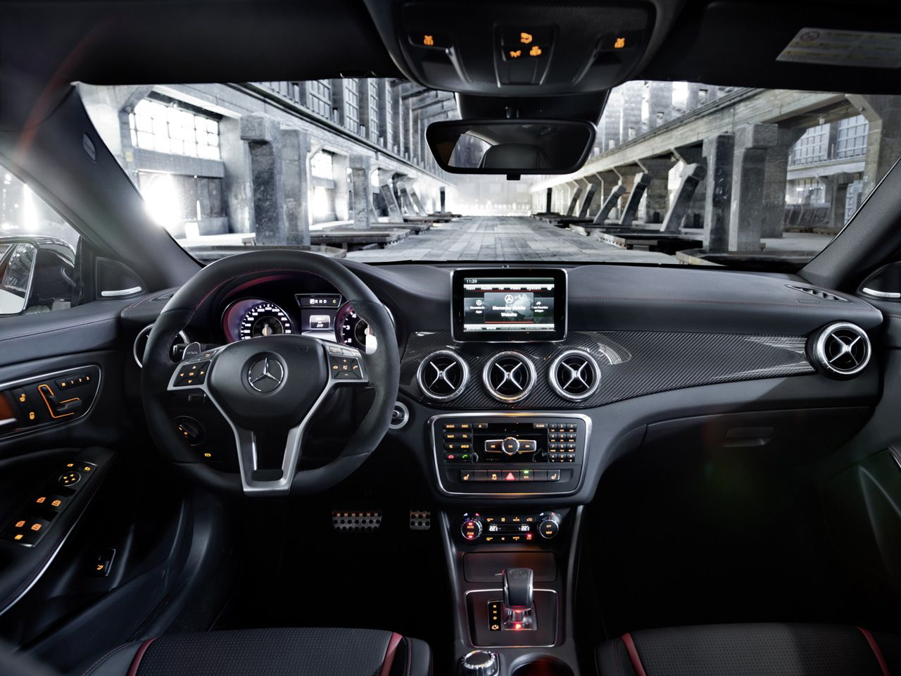 Mercedes Benz CLA 2013 Interior | 2013 Mercedes Benz CLA 45 AMG   Interior  1   1280x960   Wallpaper