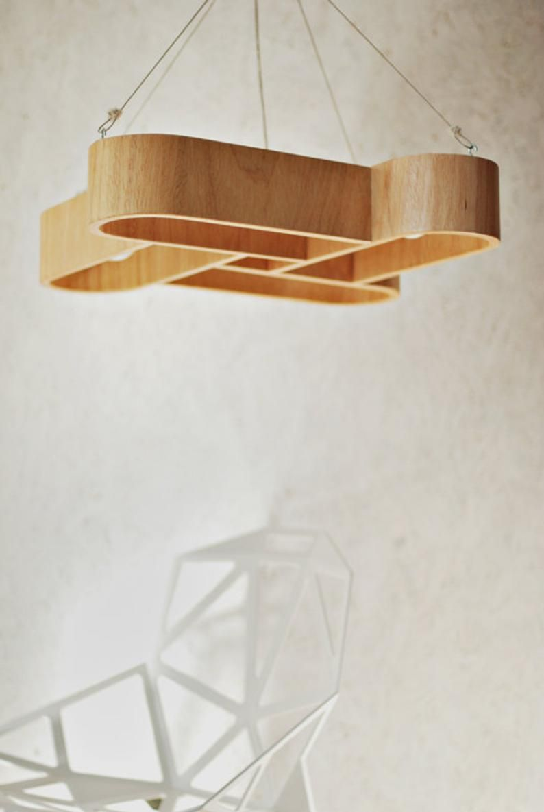 Lamp Made Of Bent Plywood Plywood Wood Texture Light Oak