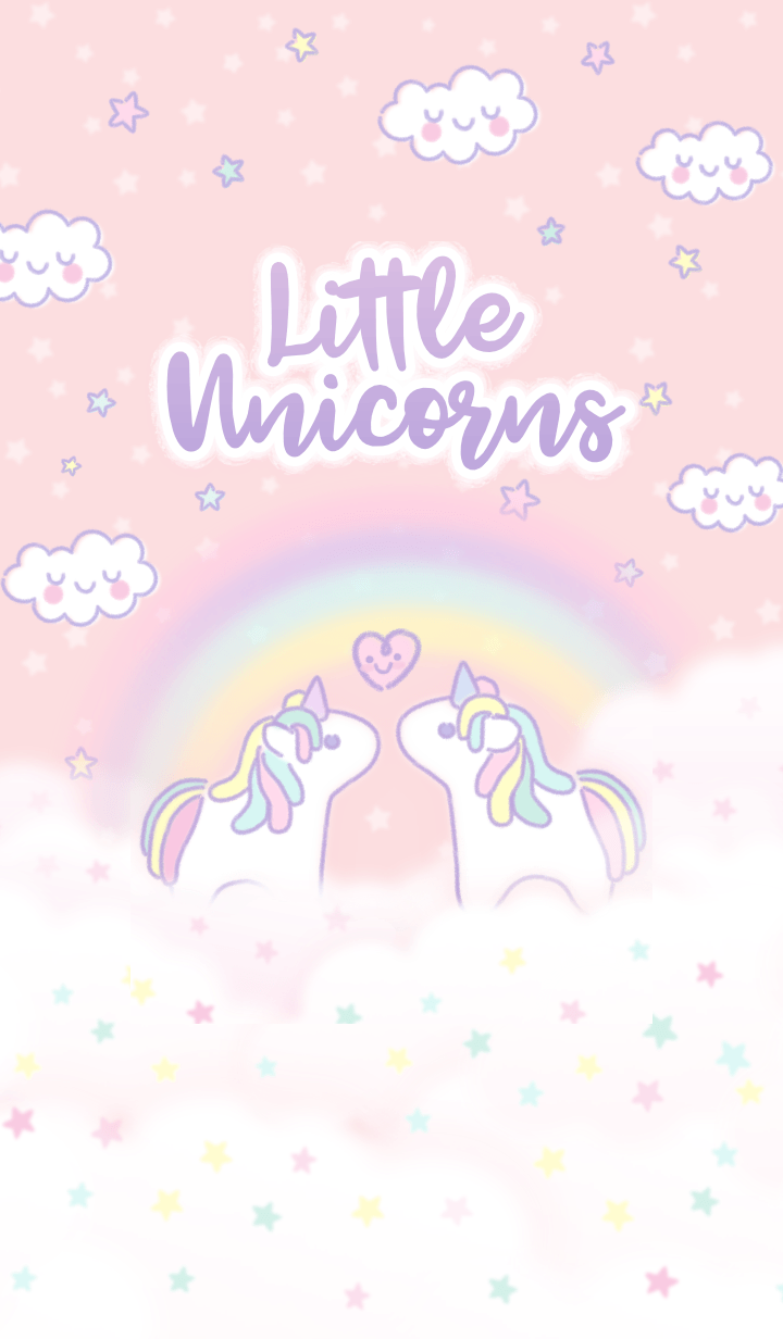 Little Twinkle Magical Miracle Horse With Soft Sweet Pastel Pink Purple Violet Diamond Color Ra Pink Unicorn Wallpaper Unicorn Wallpaper Cute Unicorn Wallpaper