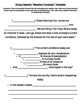 how to write weather report in english