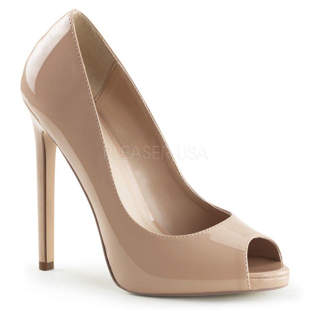Pleaser CLASSIQUE-20, Chaussures à Talons Femme - Beige (Beige (Nude Pat)), 38