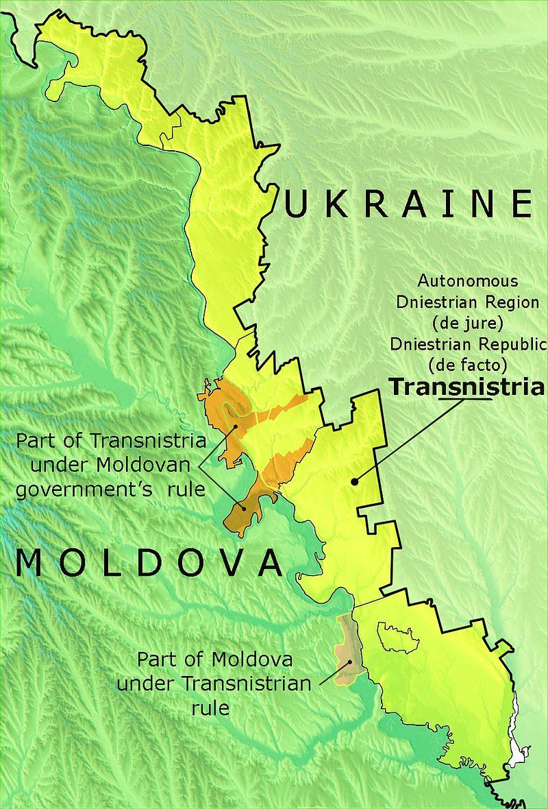Transnistria Political map, Transnistria, Historical maps
