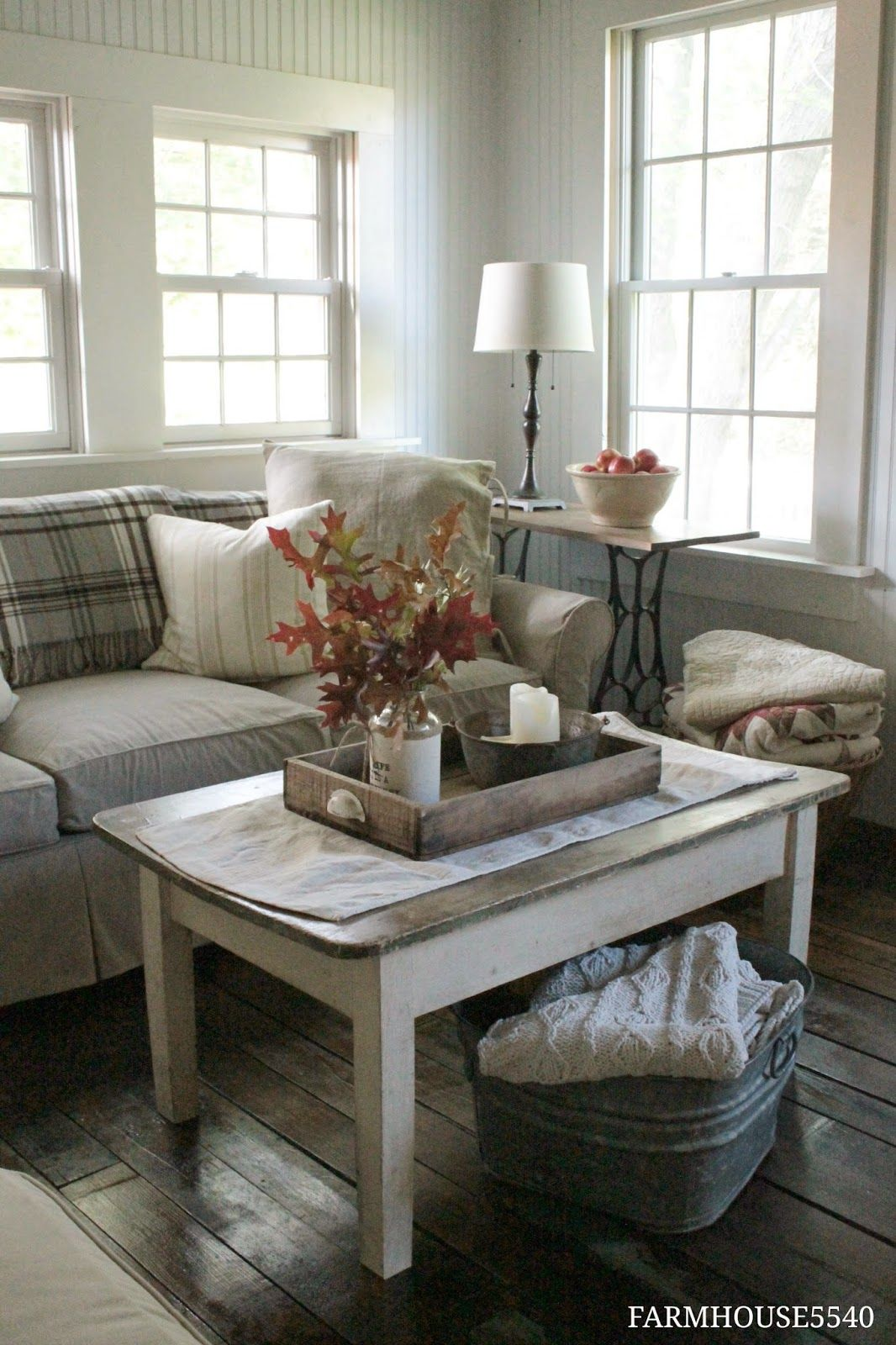 Farmhouse Addition Home Design Ideas Pictures Remodel And Decor: Farm House Living Room, Living Room Decor Rustic