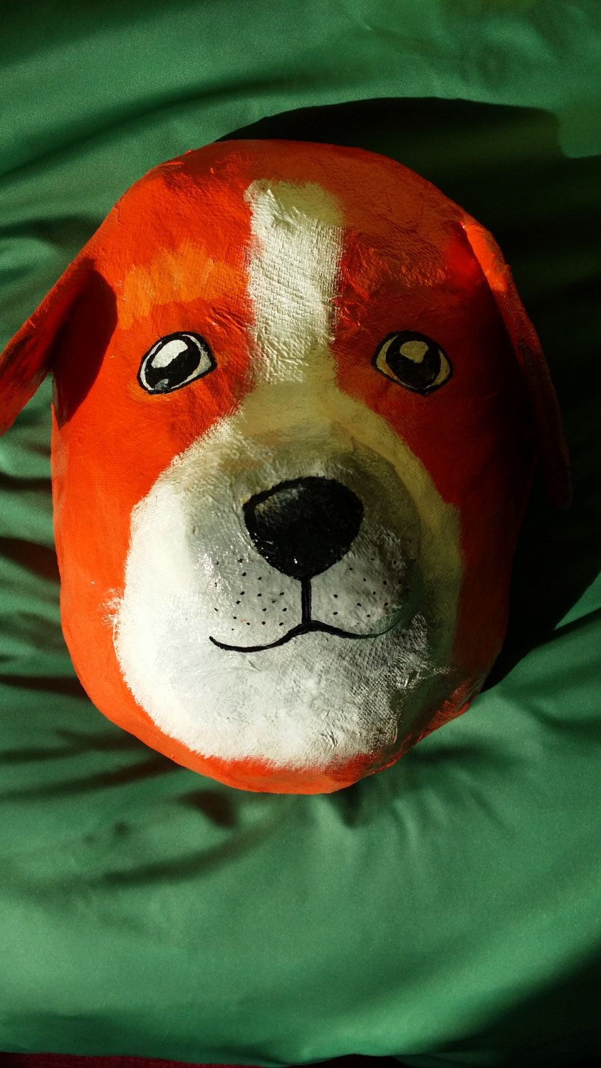 Paper mache dog head by kats13stuff on etsy crafting pinterest craft paper mache jeuxipadfo Images