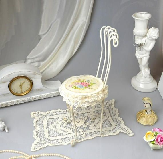shabby chic jewelry display doll chair metal jewelry holder french rh pinterest co uk