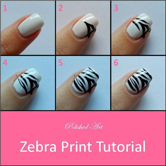 zebra-print-step-by-step-nail-art-tutorial - Zebra-print-step-by-step-nail-art-tutorial Style Pinterest