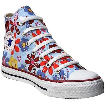 low priced a9f52 75701 CONVERSE ALL STAR SCHUHE CHUCKS EU 40 UK 7 FLOWERS BLAU ...