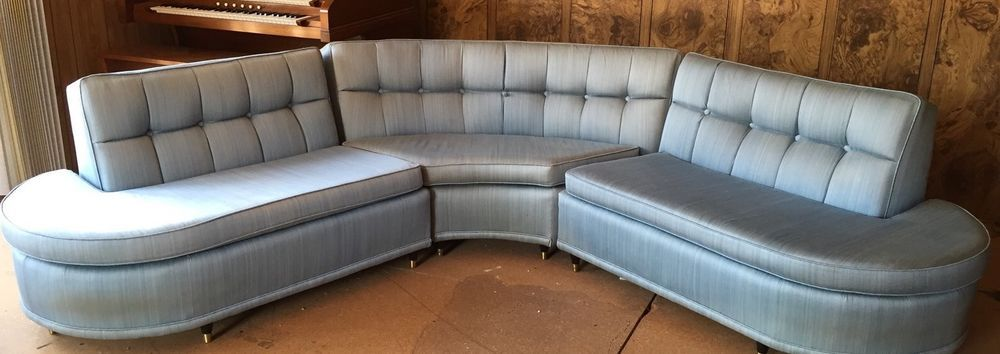 Astounding Vintage 1950S Blue Sectional Davenport Couch Blue Customarchery Wood Chair Design Ideas Customarcherynet