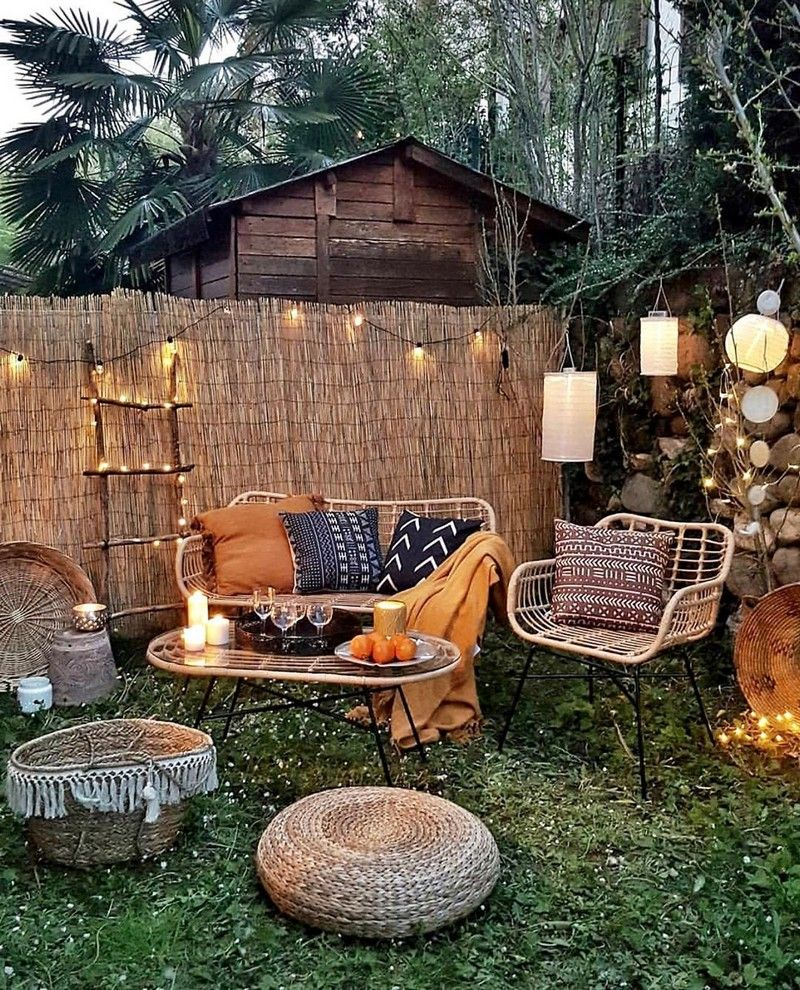 Bohemian Garden Backyard and Patio Ideas (With images ... on Bohemian Patio Ideas id=59898