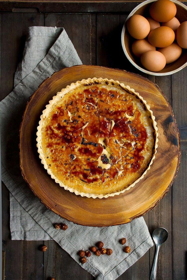 Hazelnut Creme Brûlée Tart