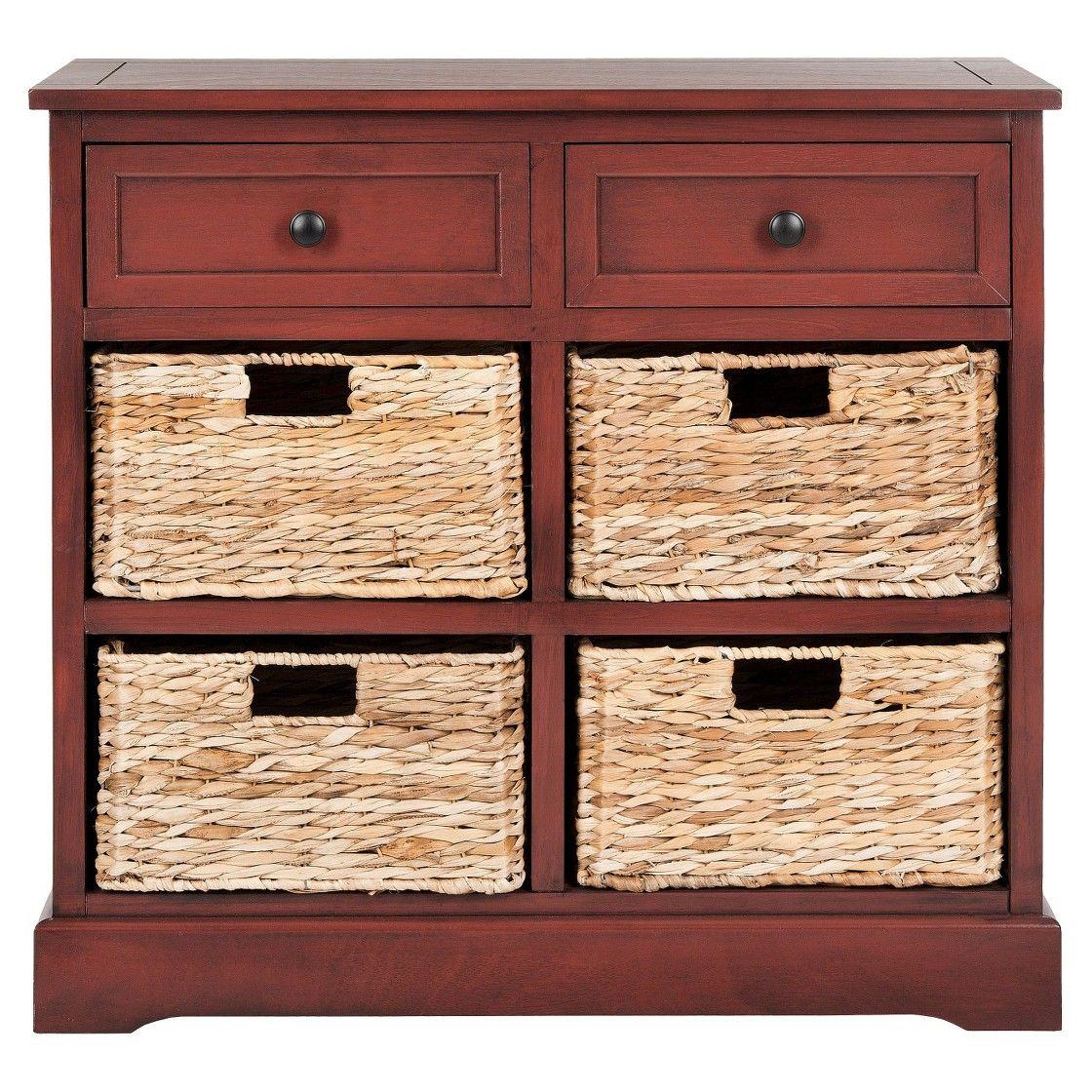 Safavieh Storage Cabinet - Red