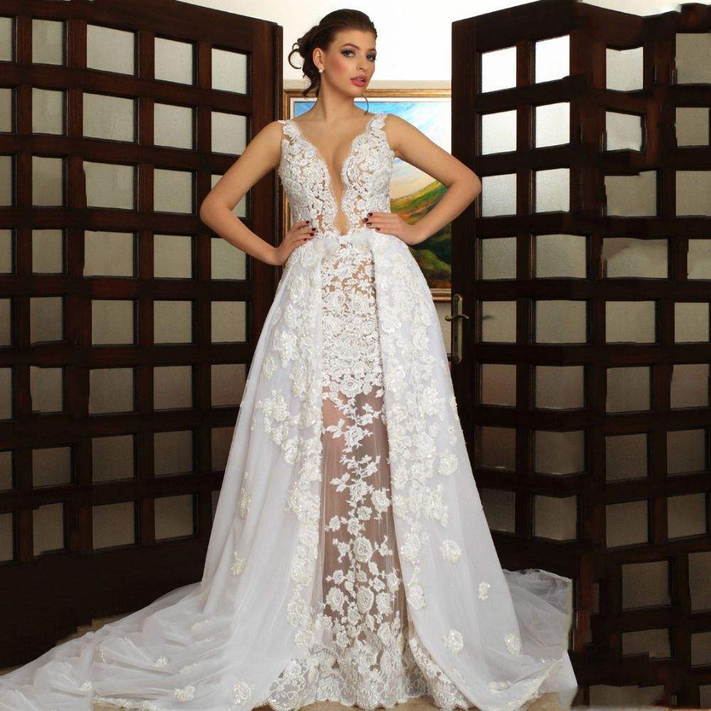 Wedding Dress Quality Dresses Lace Up Back Directly From China Attire For Weddings Suppliers 2016 Lebanon Designer Deep V Neck