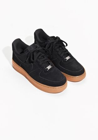 new arrival 55542 058d7 Other Stories image 2 of Nike Air Force 1 07 Suede in Black