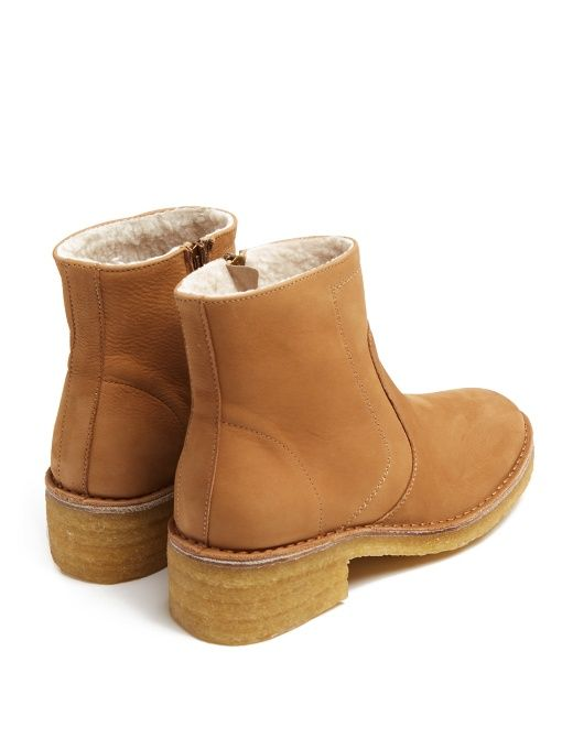 Discount Purchase Clearance 100% Original A.P.C Ariette nubuck ankle boots With Mastercard Cheap Price pcadK