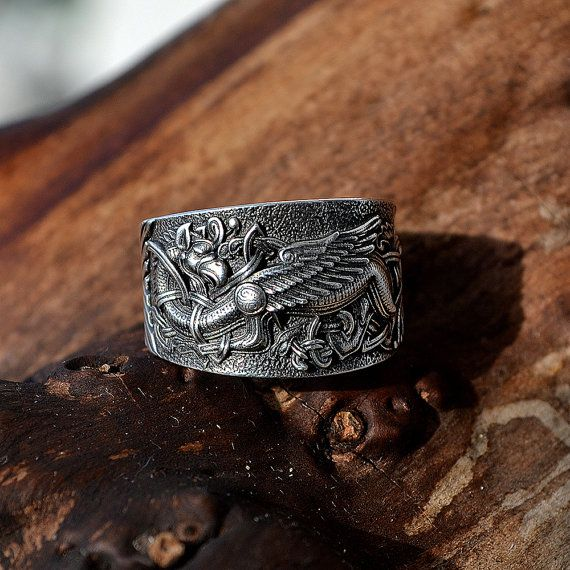 Sterling Silver ring Griffin. by RuyaN on Etsy