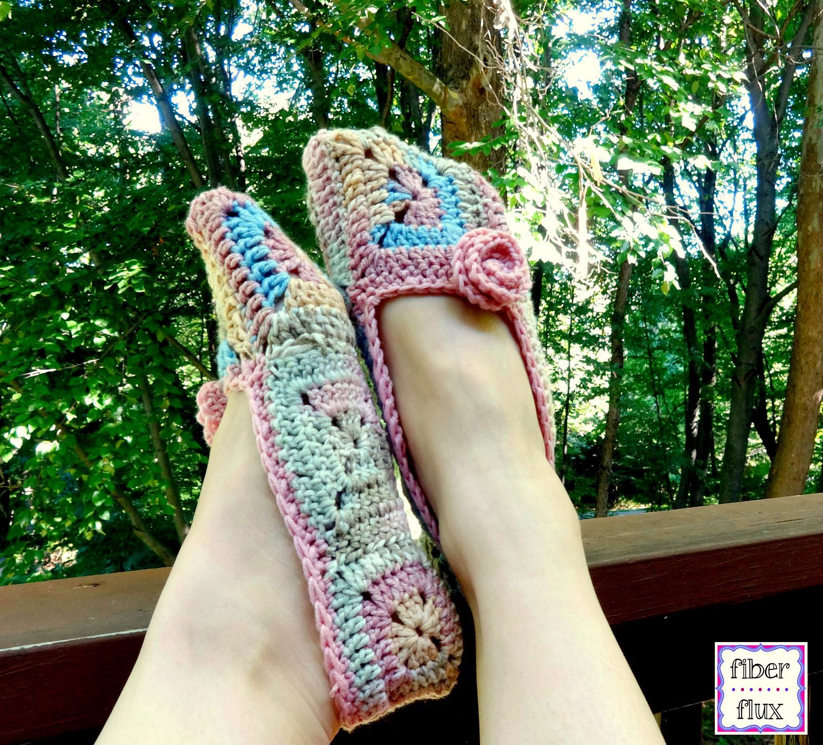 Soft Blossom Slippers By Fiber Flux/Jennifer Dickerson - Free ...